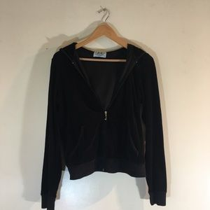 Authentic Pristine Juicy Couture Hoodie Black